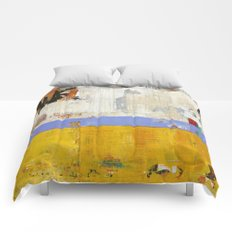 Amenity Abstract Landscape Yellow Modern Shawn McNulty Comforters