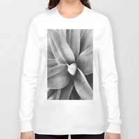 succulent Long Sleeve T-shirts featuring Succulent by Anna Bergland