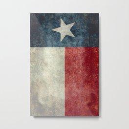 Texas state flag, vintage banner Metal Print