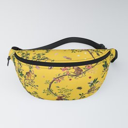 Monkey World Yellow Fanny Pack