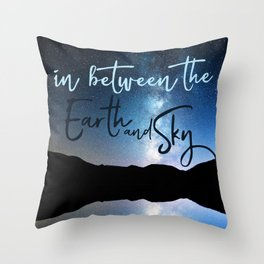 In Between the Earth and Sky Throw Pillow