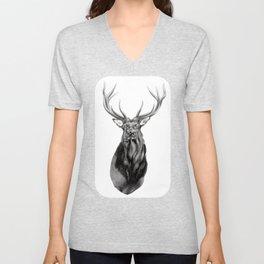 Bull Elk Encounter Unisex V-Neck