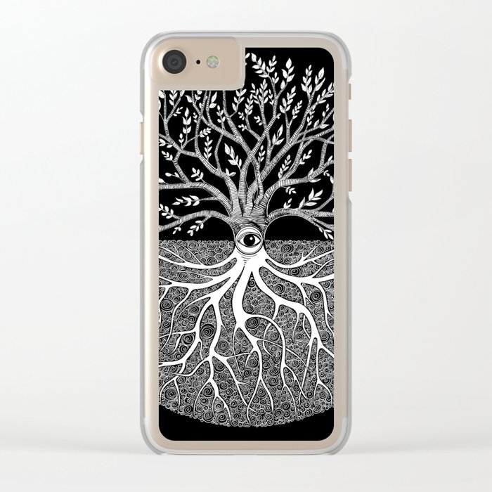 Druid Tree of Life Clear iPhone Case