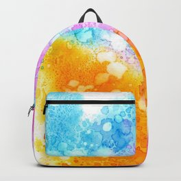Colorful abstract in watercolor Backpack