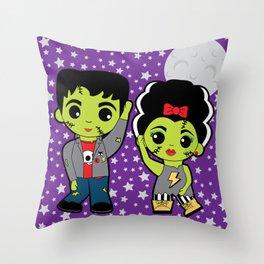 The Frankenstein Stomp Throw Pillow