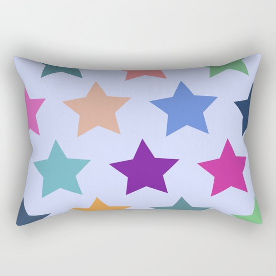 Colorful Stars Rectangular Pillow