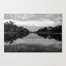 Reflecting Pool- Washington DC Canvas Print