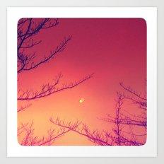 Moon Berries Art Print