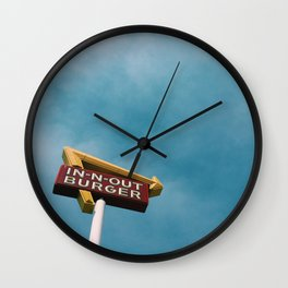 In N Out Wall Clock