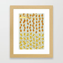 Dryed Persimmon Thieves Framed Art Print
