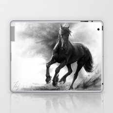 Horse in Storm - GRAPHITE DRAWING Laptop & iPad Skin