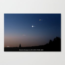Southeast sky before sunset. Canvas Print