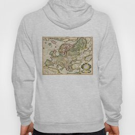 Vintage Map of Europe (1596) Hoody