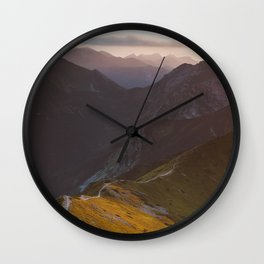 Before sunset - Landscape and Nature Photography Wall Clock
