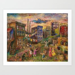 The Edge of City - Bronx by David Burliuk Art Print