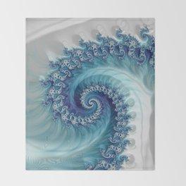 Sound of Seashell - Fractal Art Throw Blanket