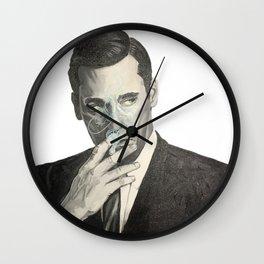 Don Draper's Blue Smoke Wall Clock