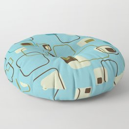 Mid-Century Modern Hep Cat (teal) Floor Pillow