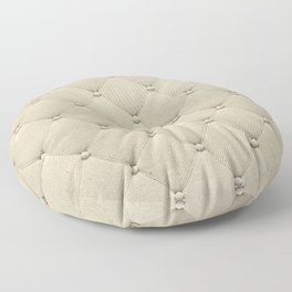 Cream Quilted Floor Pillow