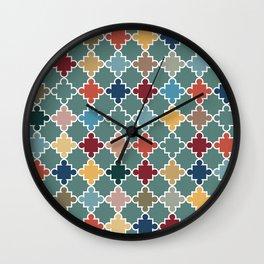 Moroccan Color Splash Wall Clock