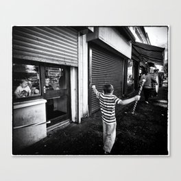 Following the band Canvas Print