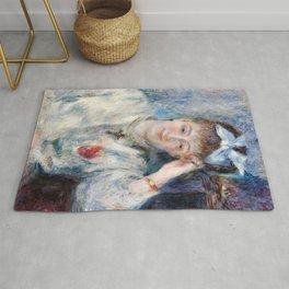 Pierre-Auguste Renoir - Portrait of Mademoiselle Marie Murer Rug
