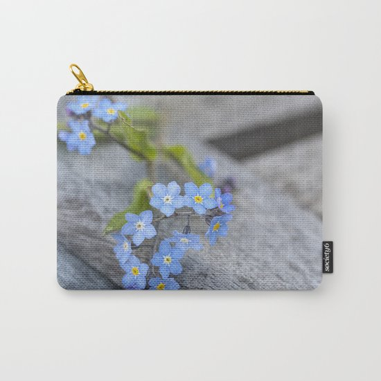 blue flower Fortget Me Not Carry-All Pouch