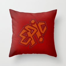 EPiC on red Throw Pillow