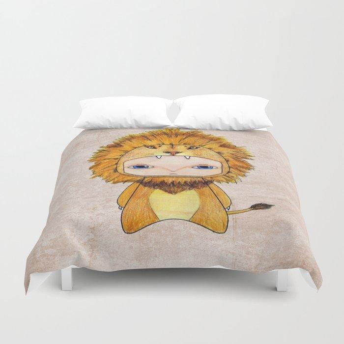 A Boy - Lion Duvet Cover