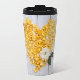flower petals in a heart Travel Mug