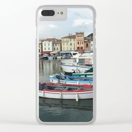 Italian Row Boats Clear iPhone Case