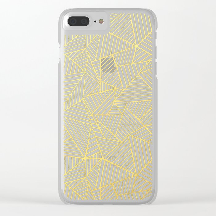 Ab 2 R Black and Gold Clear iPhone Case