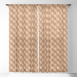 Chocolate Wheels Sheer Curtain