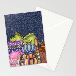 sleeping dino Stationery Cards