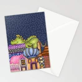 sleeping dino Stationery Cards