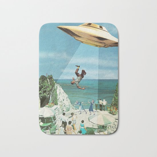 UFO Abduction Bath Mat