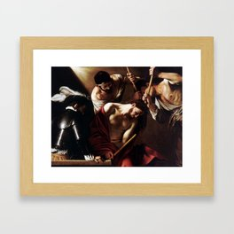 Caravaggio The Crowning with Thorns Framed Art Print