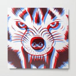 3D Wolf Metal Print