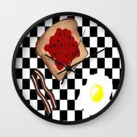 breakfast Wall Clocks featuring Breakfast by Sartoris ART