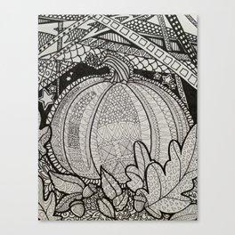 Tangle Pumpkin Canvas Print