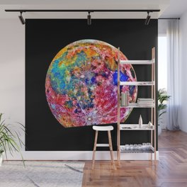 Colorful Moon Surface Wall Mural