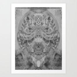 tribal negative Art Print