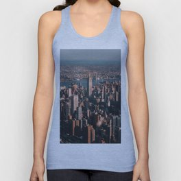 Empire State Building seen from a plane Unisex Tank Top