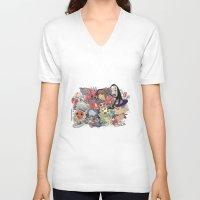 hayao miyazaki V-neck T-shirts featuring Hayao Miyazaki by Kensausage