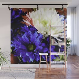 A Red White And Blue Bouquet For Laurel Wall Mural