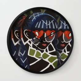 Girl from the Past by Lu Wall Clock