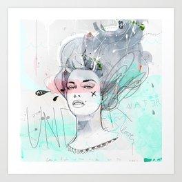 Under Water Love Art Print