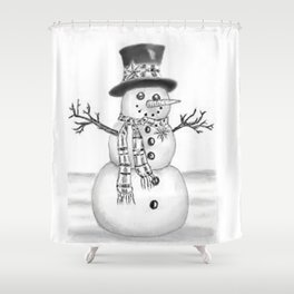the snowman Shower Curtain
