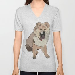 Fluffy Dog Unisex V-Neck