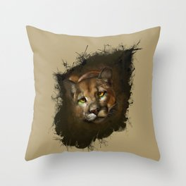 The cougar Throw Pillow
